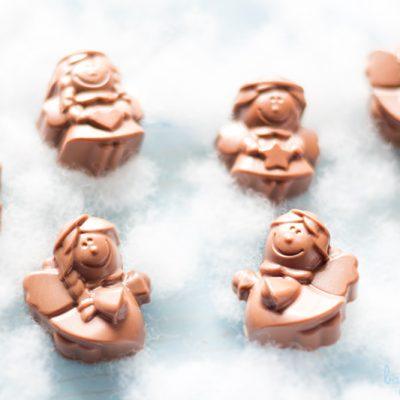 Bombones rellenos de caramelo salado